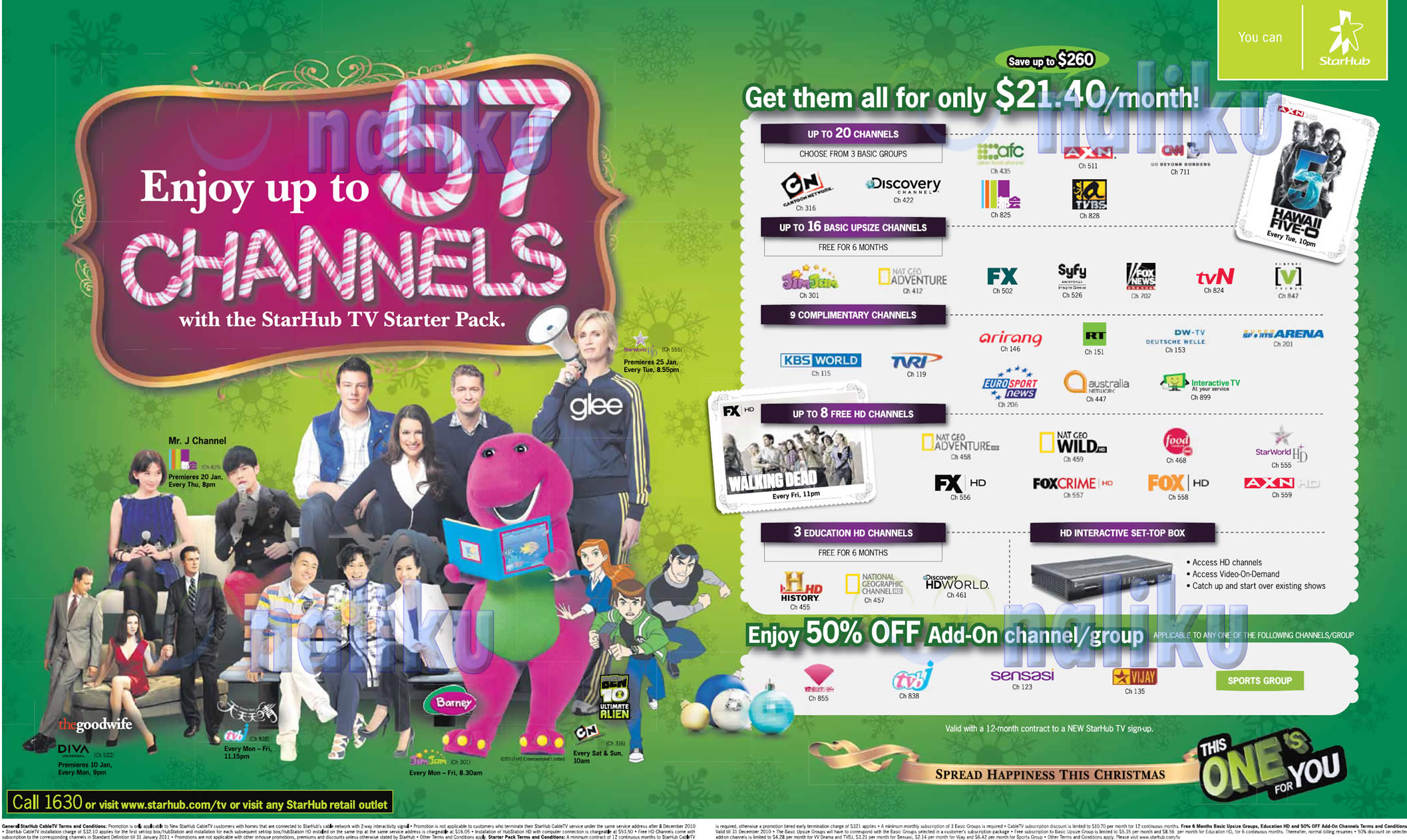 Starhub TV Starter Pack December 2010 Christmas Promotion - Starhub TV ...