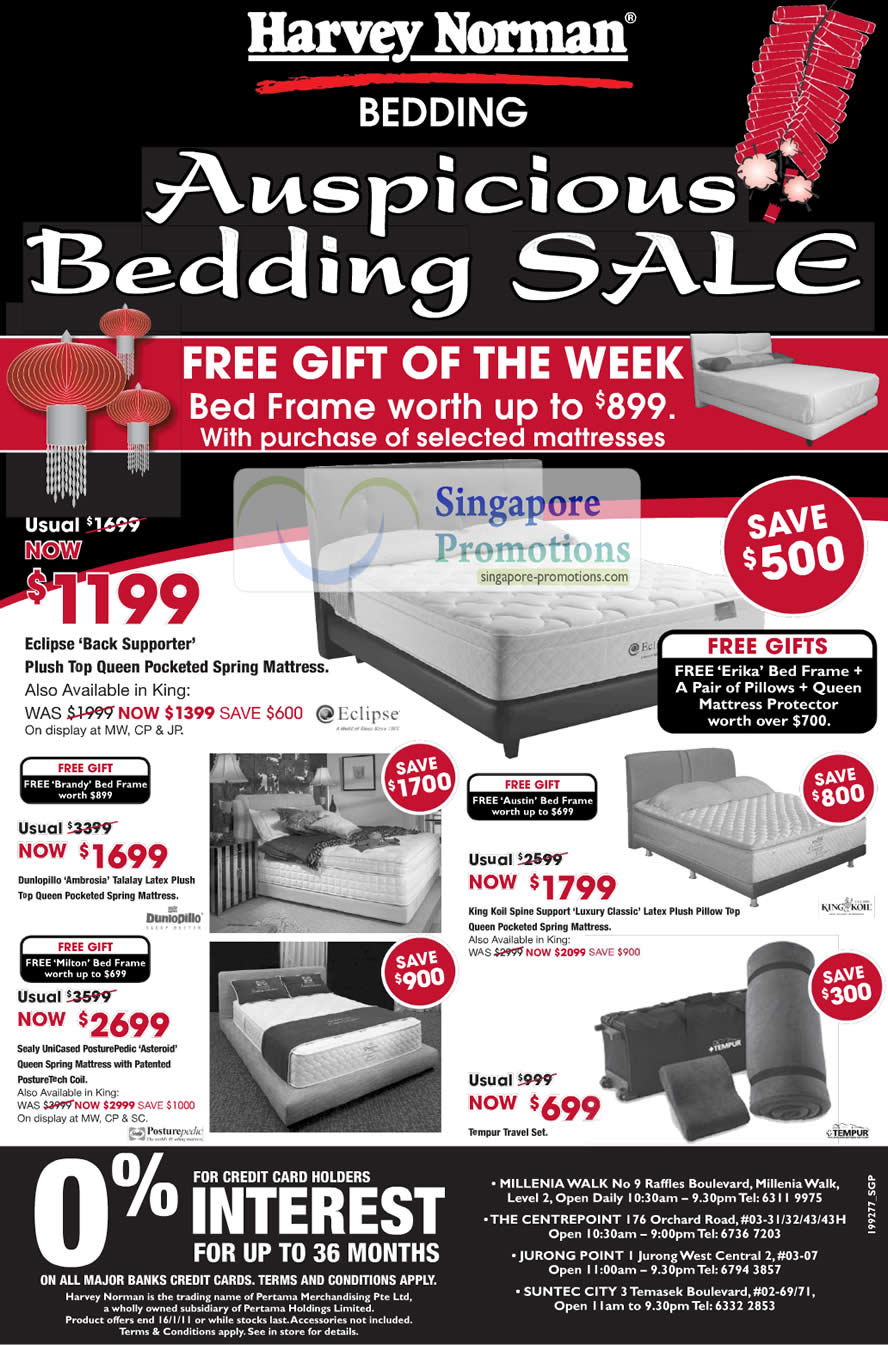 Harvey norman singapore harvey norman westmall for Beds january sales