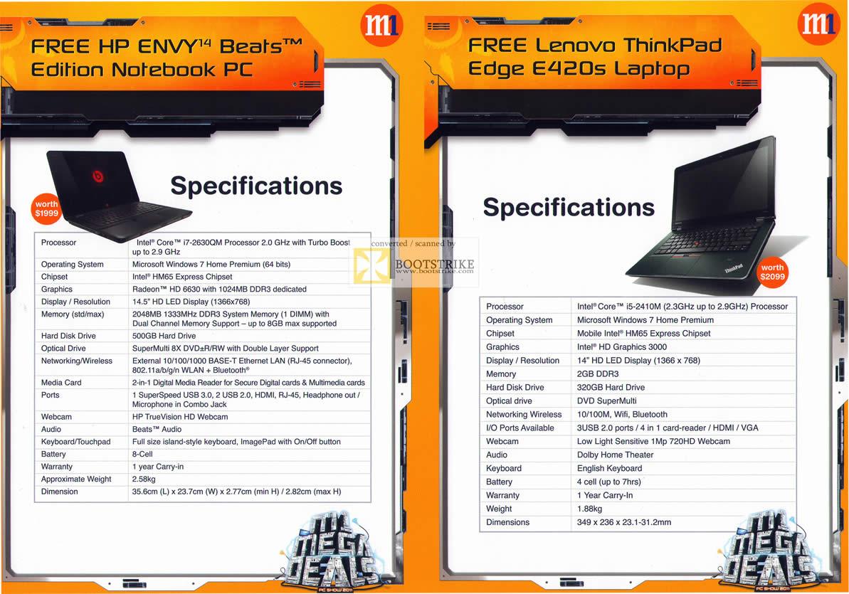 M1 Mobile Phones & Home/Mobile Broadband Offers 9 ? 16 Jun 2011 - M1 Free HP ...