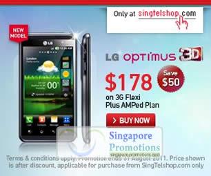 LG Optimus 3D Singtelshop Singtel Pre COMEX 2011 Mobile Phones ...