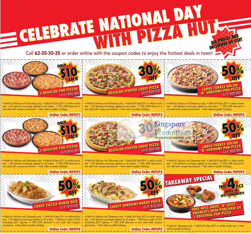 Pizza Hut Coupons Up To 50% Off Delivery & Takeaway 3 Aug – 6 Sep ...
