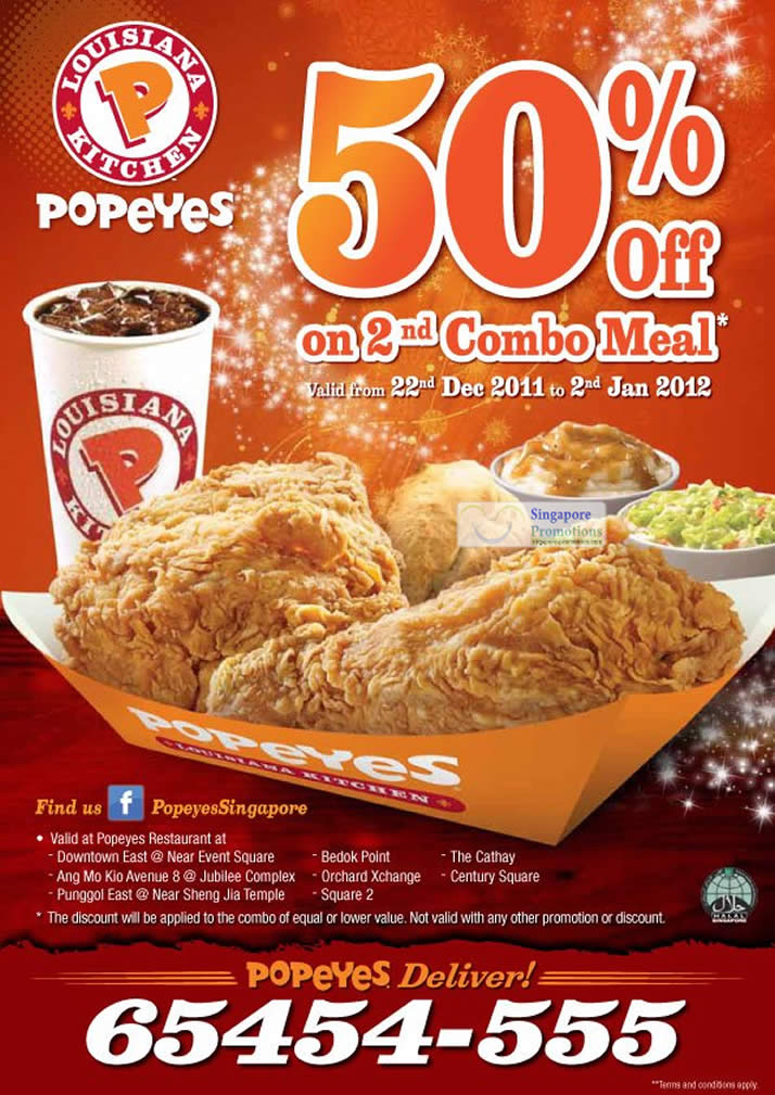Popeyes discount coupons