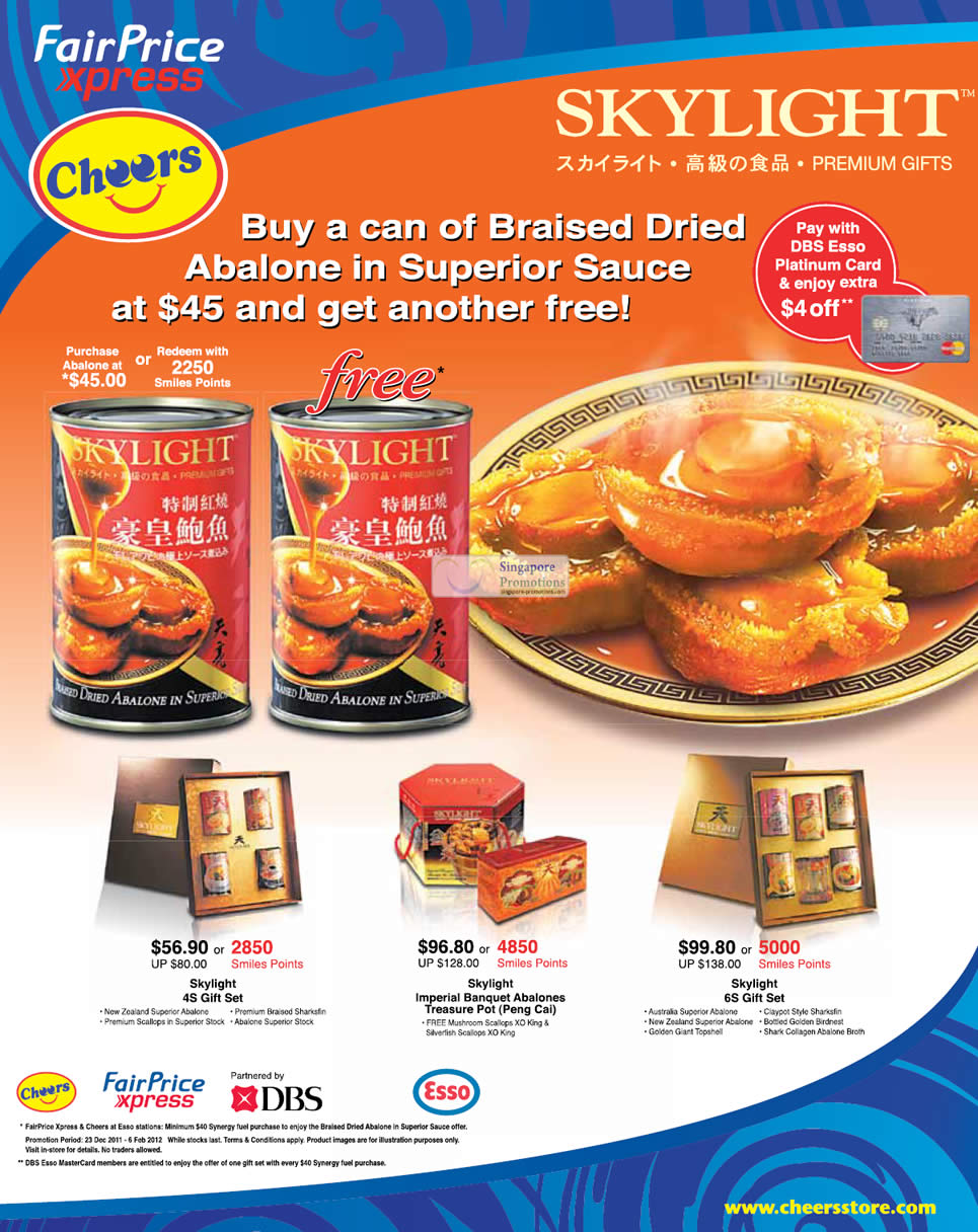 ... Cheers Skylight Abalone Offers 23 Dec 2011 – 6 Feb 2012 Singapore